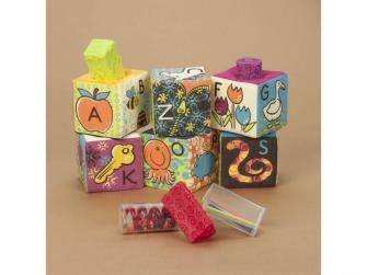 Textilní kostky ABC Block Party 6