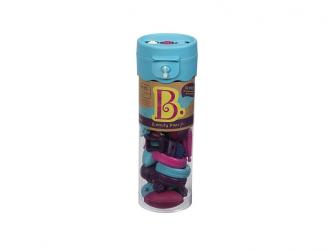 Spojovací korále a tvary Pop Arty 50 ks fialové/tyrkysové