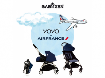 YOYO+ 0+ Novorozenecký balíček - Air France Blue 3
