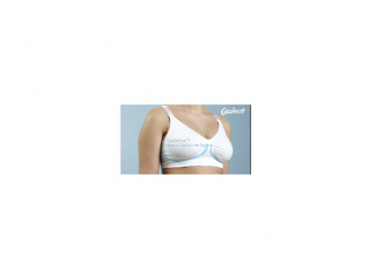 Podprsenka ke kojení s gelovou kosticí bílá L 5