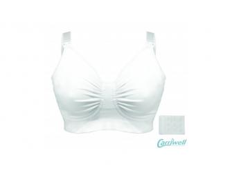Podprsenka ke kojení s gelovou kosticí bílá XL 5
