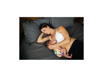 Podprsenka ke kojení push up bílá L 6