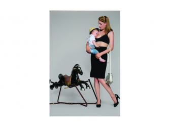 Podprsenka ke kojení push up černá S 2