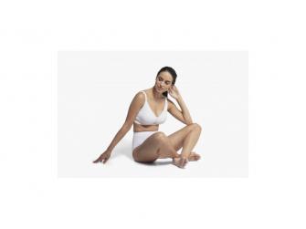 Podprsenka ke kojení push up s gelovou kosticí bílá XL 4