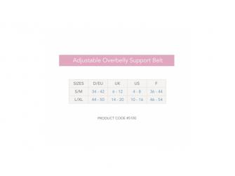 Těhotenský podpůrný pás přes bříško - nastavitelný - bílý L/XL 10