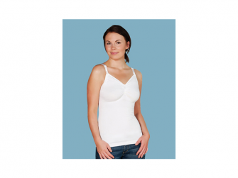 Košilka bezešvá stahovací s klipem ke kojení bílá XL