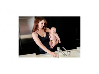 Košilka bezešvá stahovací s klipem ke kojení černá S 6