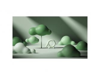Silikonové kousátko Sloník, zelený 4