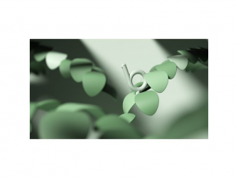 Silikonové kousátko Ptáček, zelený 3