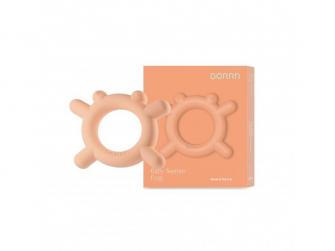 Silikonové kousátko Žabka, oranžová