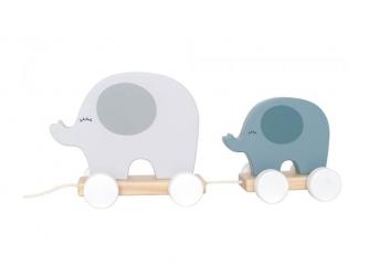 Hračka na tahání slon šedý
