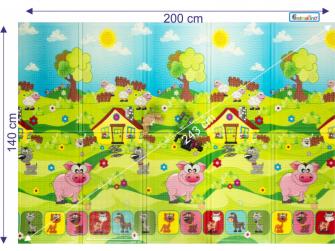Dětská skládací podložka Piggy 3