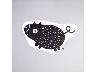 Polštář Štětináč - černý
