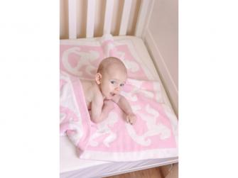 Žinylková deka růžová 3