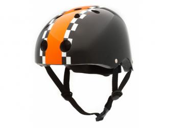 Dětská helma ČERNÁ -ZÁVODNÍK , velikost S