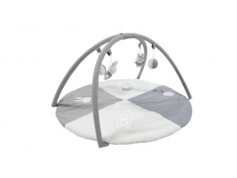 Plyšová hrací deka s hrazdičkou pruhy