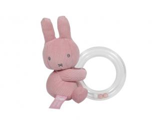 Chrastící kroužek miffy pink babyrib