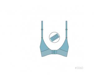 Podprsenka nastavitelná s klipem ke kojení modrá deluxe L, New Mum 4