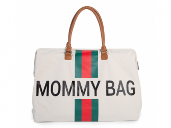 Přebalovací taška Mommy Bag Big Off White / Green Red