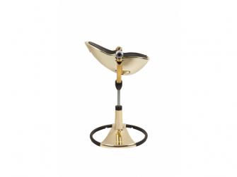 Židlička Fresco Chrome GOLD YELLOW (special luxury edition), bez podložky 7