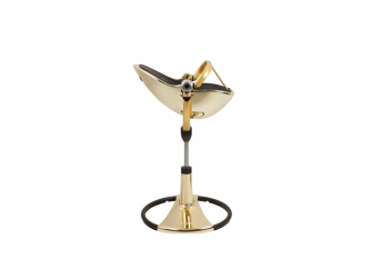 Židlička Fresco Chrome GOLD YELLOW (special luxury edition), bez podložky 6