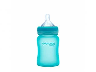 láhev sklo s teplotním senzorem Healthy+ 150 ml Turquoise 2