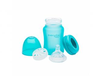 láhev sklo s teplotním senzorem Healthy+ 150 ml Turquoise 3