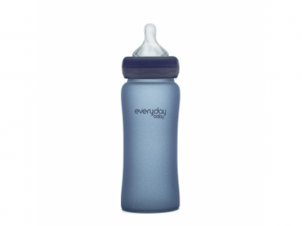 láhev sklo s teplotním senzorem Healthy+ 240 ml Blueberry 3
