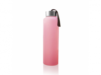 láhev sklo na vodu Rose Pink