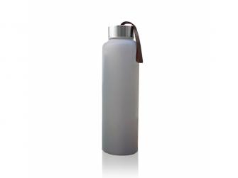 láhev sklo na vodu Quiet Grey