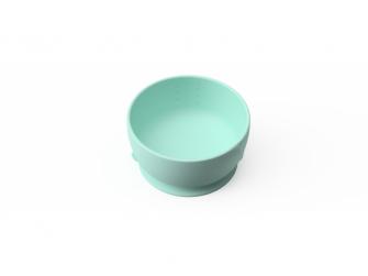 silikonová miska s přísavkou Mint Green 2