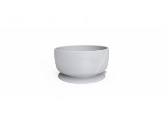 silikonová miska s přísavkou Quiet Grey