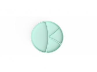 silikonový talíř s přísavkou Mint Green 3