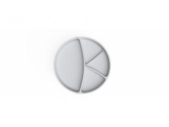 silikonový talíř s přísavkou Quiet Grey 2