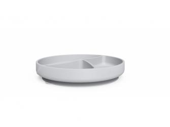 silikonový talíř s přísavkou Quiet Grey