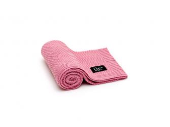 Pletená deka, raspberry