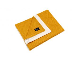 Pletená deka WINTER, mustard