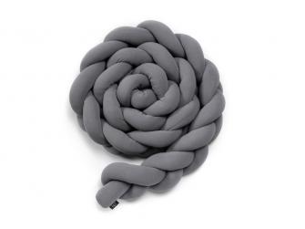 Pletený mantinel 180 cm, grey