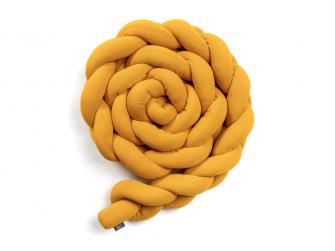 Pletený mantinel 180 cm, mustard