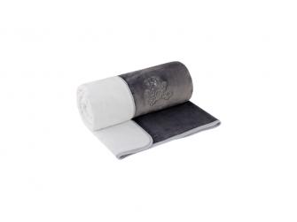 Dětská deka dvojitá Magna   šedá - bílá 75 x 100 cm