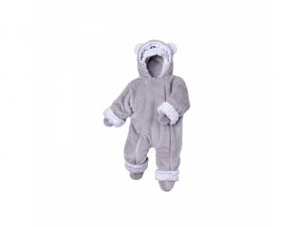 Zimní kojenecký overal Minky Teddy | bílá 56 - 62