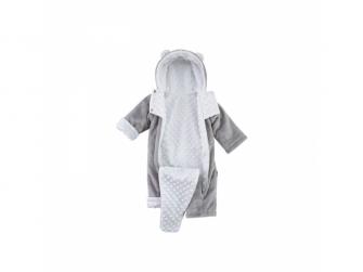 Zimní kojenecký overal Minky Teddy | bílá 68 - 74 2