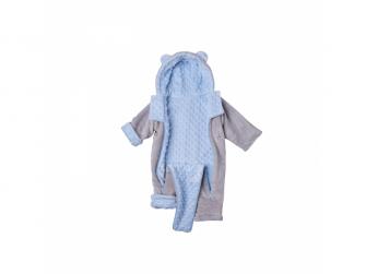 Zimní kojenecký overal Minky Teddy | modrá 56 - 62 3