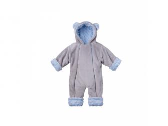 Zimní kojenecký overal Minky Teddy | modrá 56 - 62