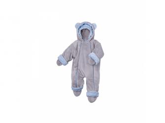 Zimní kojenecký overal Minky Teddy | modrá 80 - 86 2