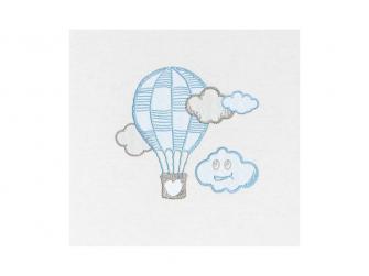 Dětské povlečení Mráček JERSEY, modrá 100x135, 60x40 cm 2