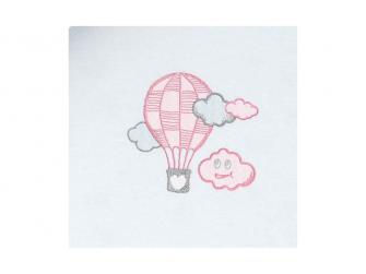 Dětské povlečení Mráček JERSEY, růžová 100x135, 60x40 cm 2