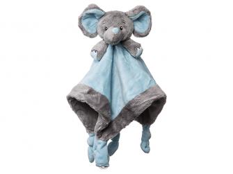 Můj první slon - muchláček, modrý