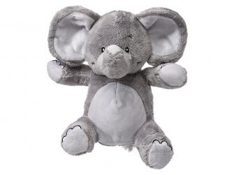 Můj první slon - plyšák, šedý