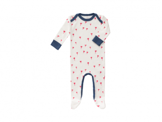 Overal Tulip red, 6-12 m